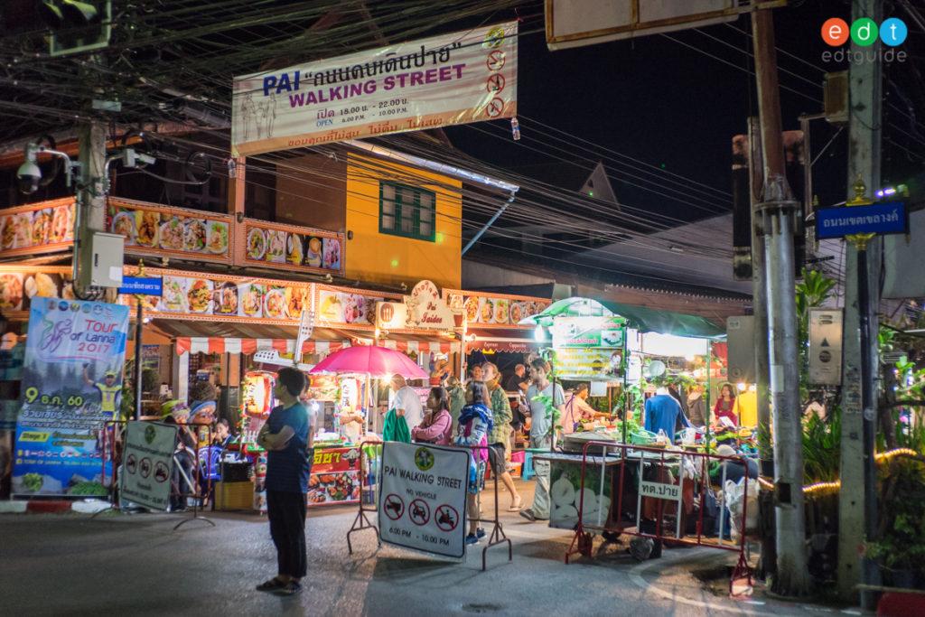 เที่ยวเมืองปาย แม่ฮ่องสอน -ถนนคนเดิน