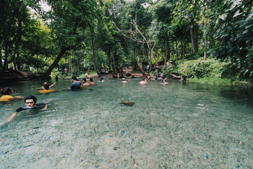 บ่อน้ำร้อนไทรงาม ที่อยู่ท่ามกลางธรรมชาติเเม่ฮองสอน