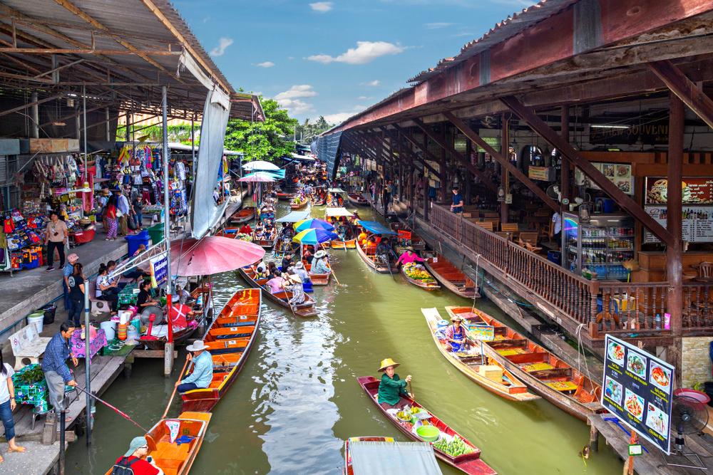 ตลาดน้ำในเมืองไทย-ตลาดน้ำดำเนินสะดวก